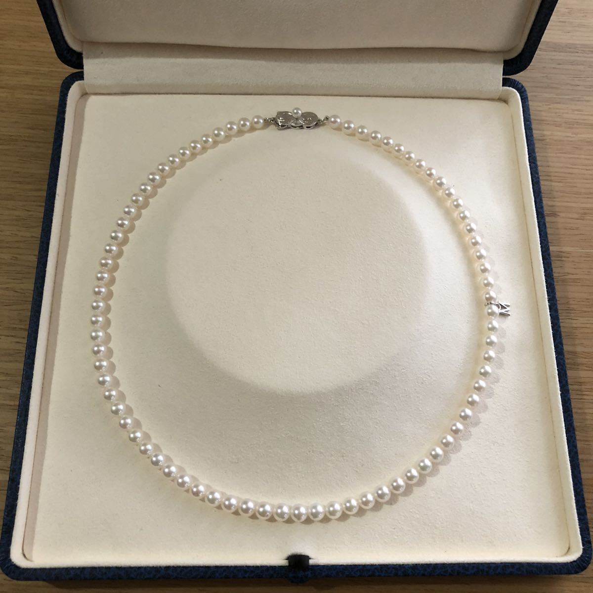 MIKIMOTO ミキモト アコヤパールネックレス SIL 5mm_画像1