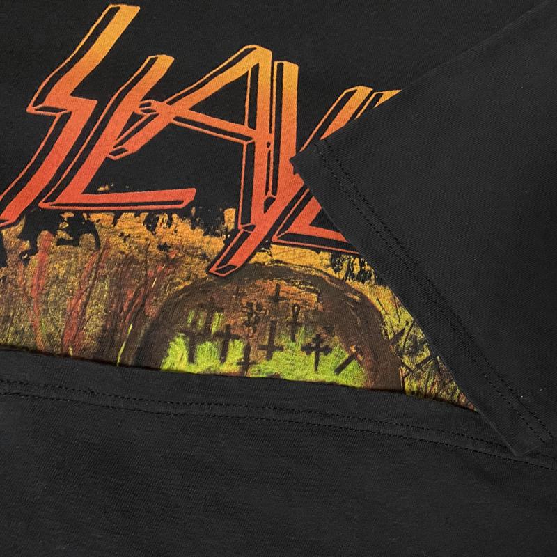 SLAYER スレイヤー スラッシュメタル ロック バンドTシャツ 00s Metal 黒ブラック M レア SEASONS IN THE ABYSS ビンテージ ホンジュラス製_画像8