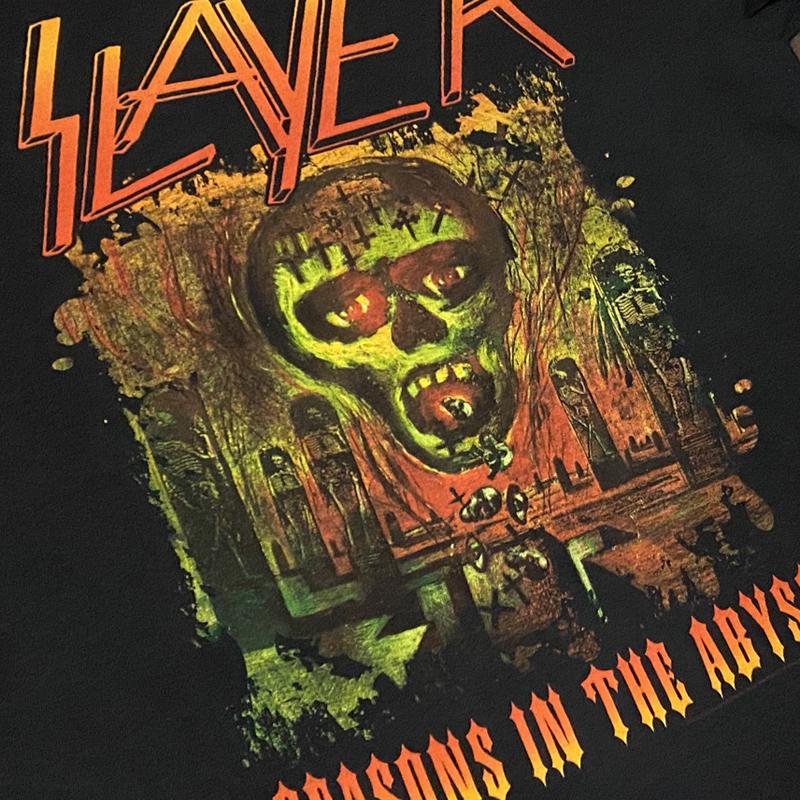 SLAYER スレイヤー スラッシュメタル ロック バンドTシャツ 00s Metal 黒ブラック M レア SEASONS IN THE ABYSS ビンテージ ホンジュラス製_画像5