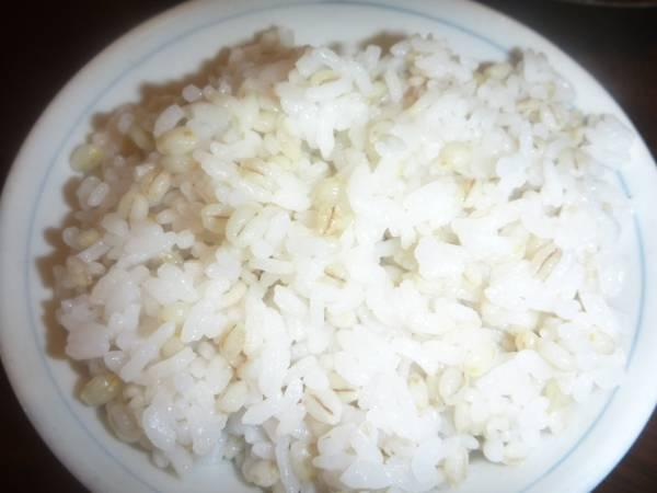 ☆ 無農薬大麦 『有機鴨作』 農家直送 精麦済大麦 1kg sat☆_使用例:麦2割の麦ご飯
