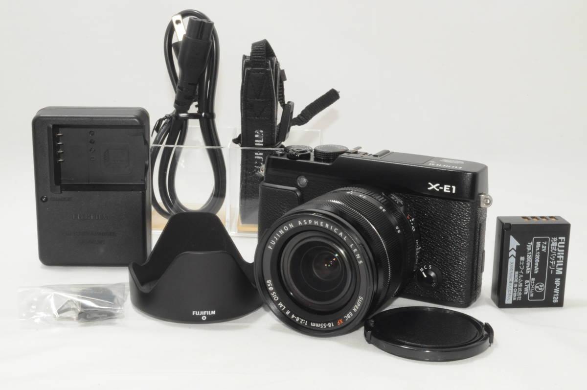 超極上美品 FUJIFILM 富士フィルム X-E1 レンズキット ブラック X-E1 #KL7-7