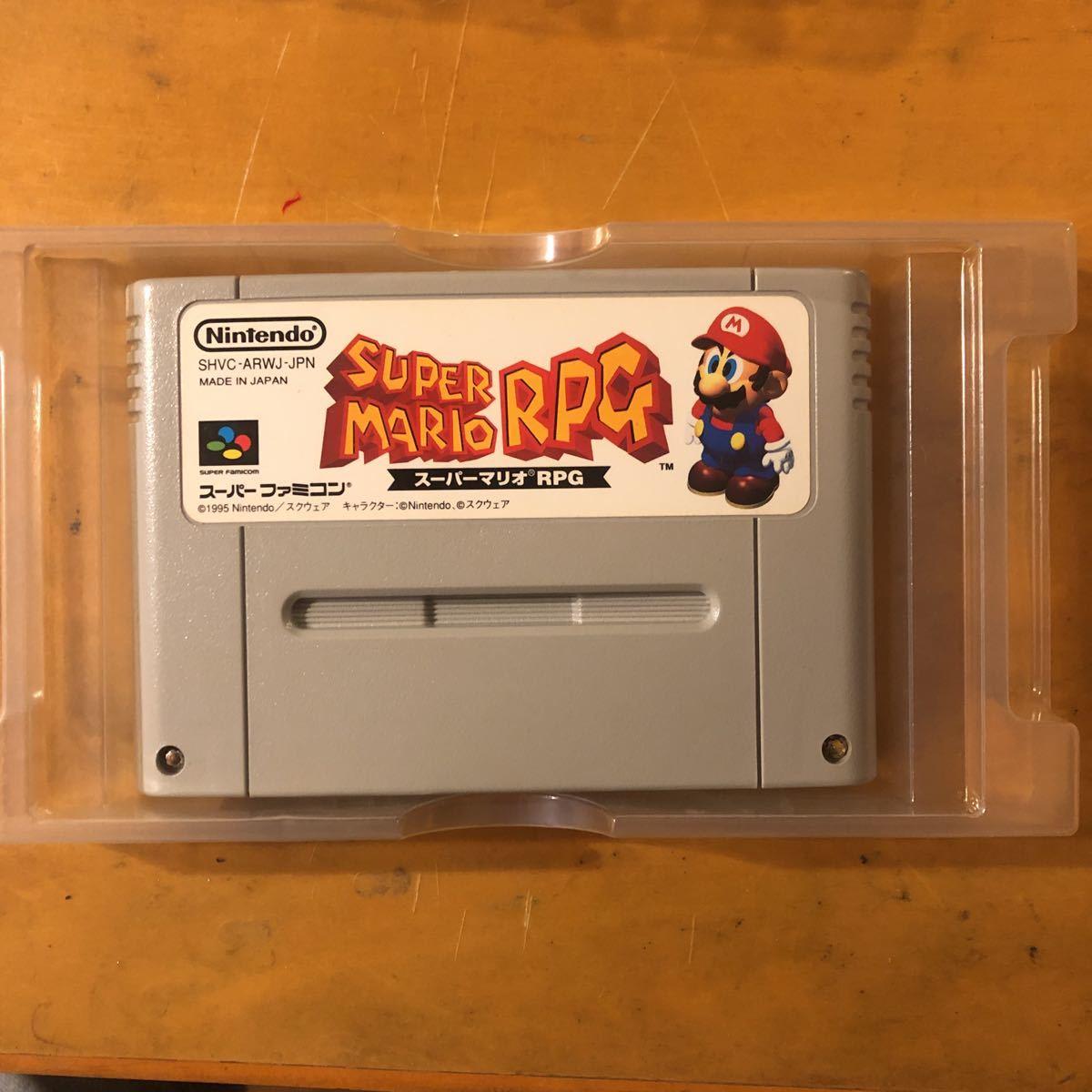 スーパーファミコン スーパーマリオRPG 電池交換済み、箱、説明書付
