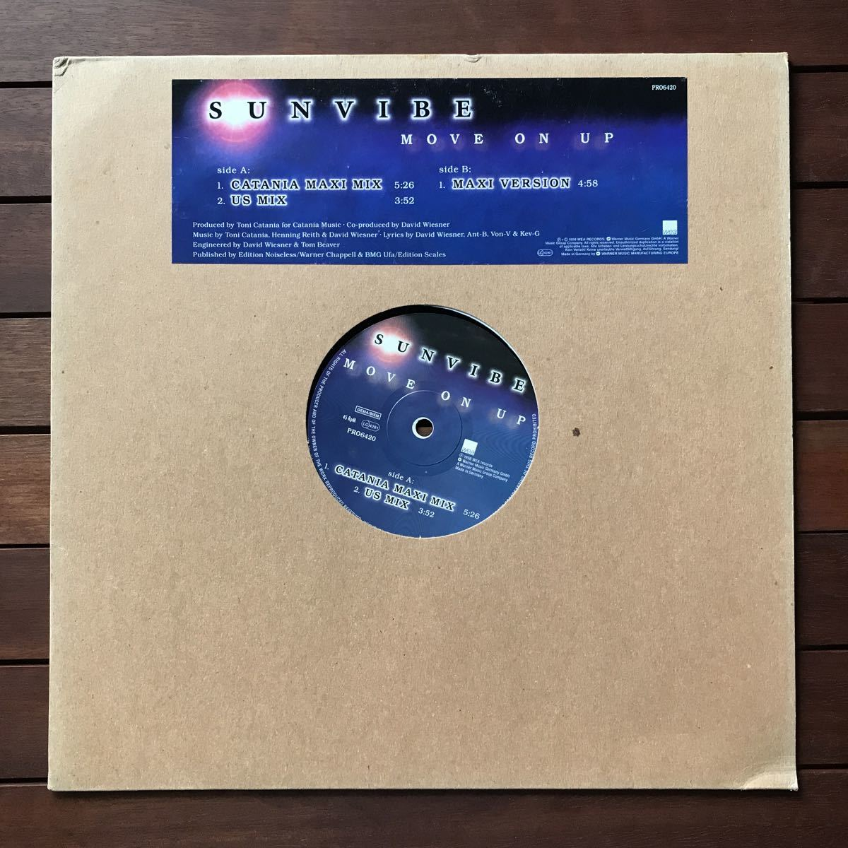 ●【eu-rap】Sunvibe / Move On Up[12inch]オリジナル盤