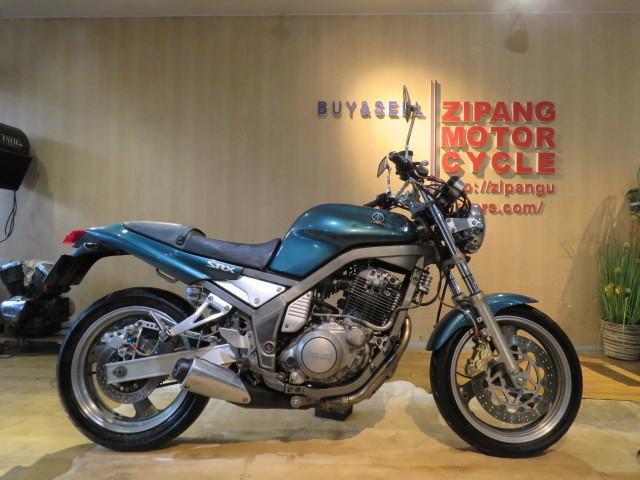 「□YAMAHA SRX400 3VN ヤマハ 400cc 51545km グリーン ブレンボブレーキ 1992年式 実動! バイク 札幌発」の画像1