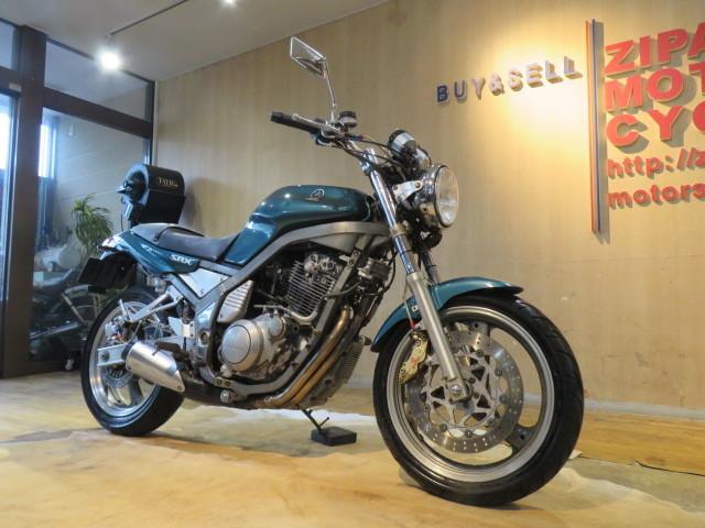 「□YAMAHA SRX400 3VN ヤマハ 400cc 51545km グリーン ブレンボブレーキ 1992年式 実動! バイク 札幌発」の画像3