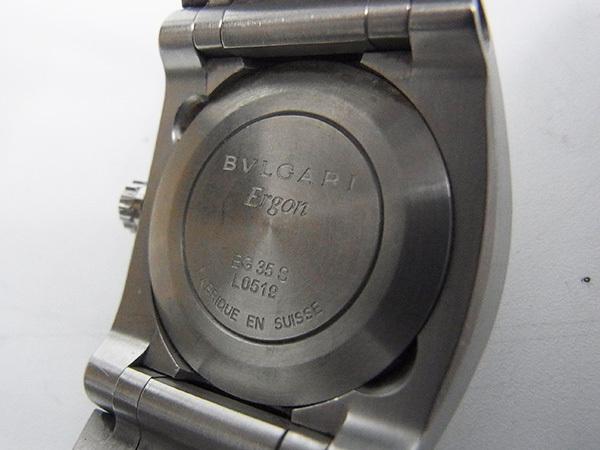 BVLGAR ブルガリ エルゴン ERGON EG 35 S 純正SSベルト レディース 中古品 ♪_画像4