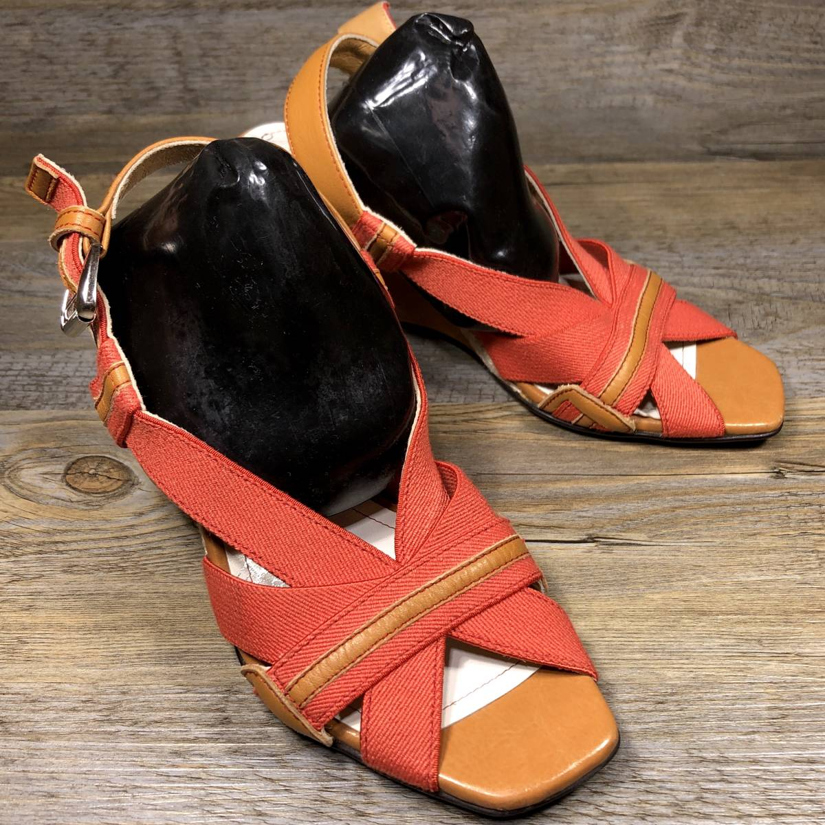 ■REGAL■ 23cm オレンジ リーガル サンダル レディース ウェッジソール 靴 くつ 中古 宅急便 即決_画像3