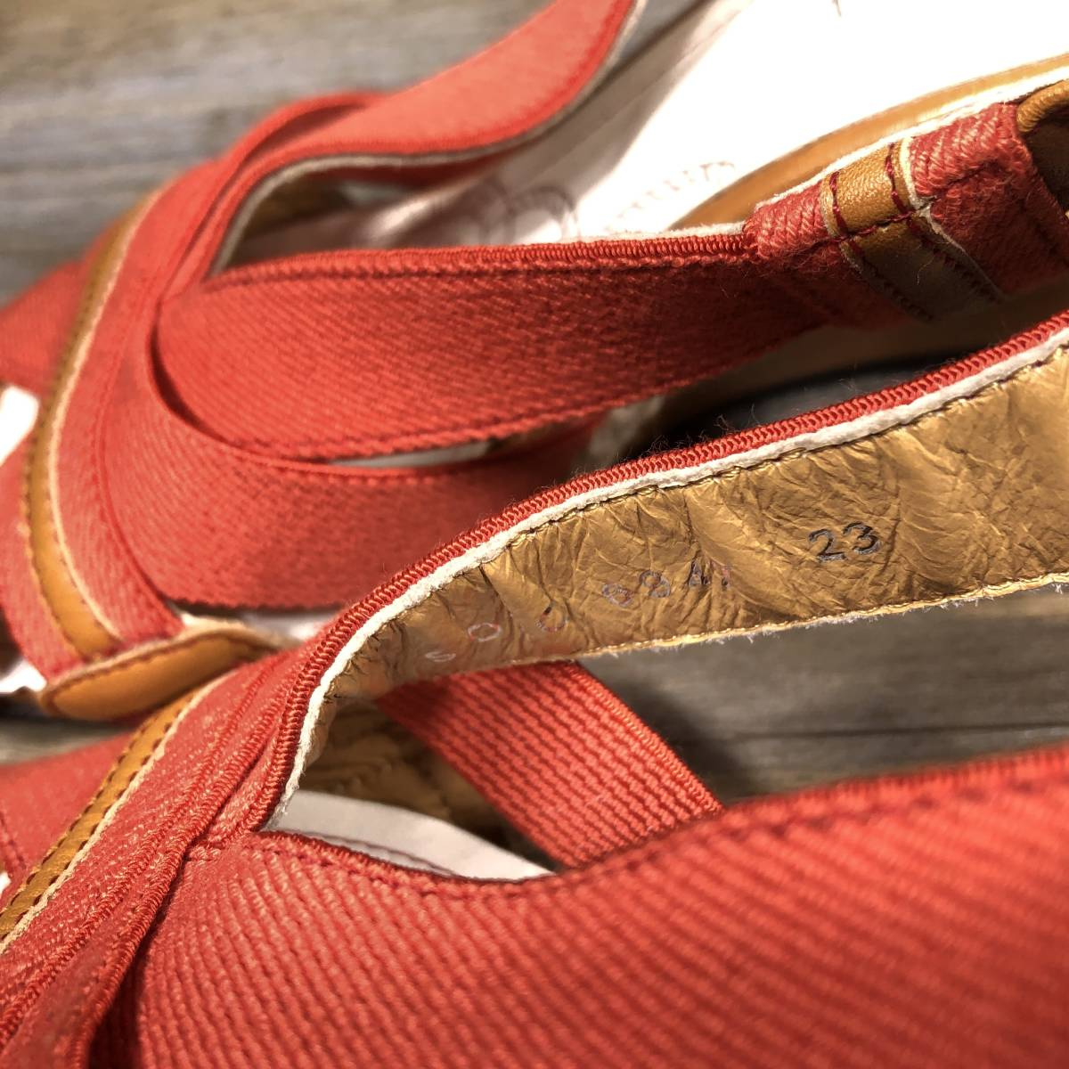 ■REGAL■ 23cm オレンジ リーガル サンダル レディース ウェッジソール 靴 くつ 中古 宅急便 即決_画像8