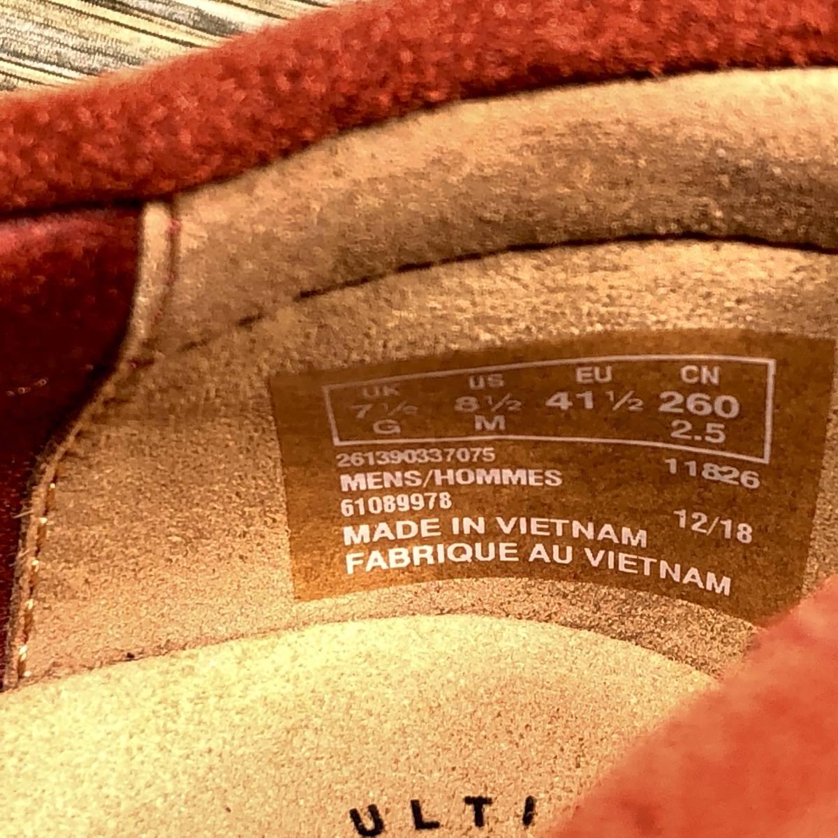 ■Clarks■ 26cm UK7.5 赤 レッド クラークス スリッポン ローファー メンズ 靴 革靴 天然皮革 くつ 中古 宅急便 即決_画像8