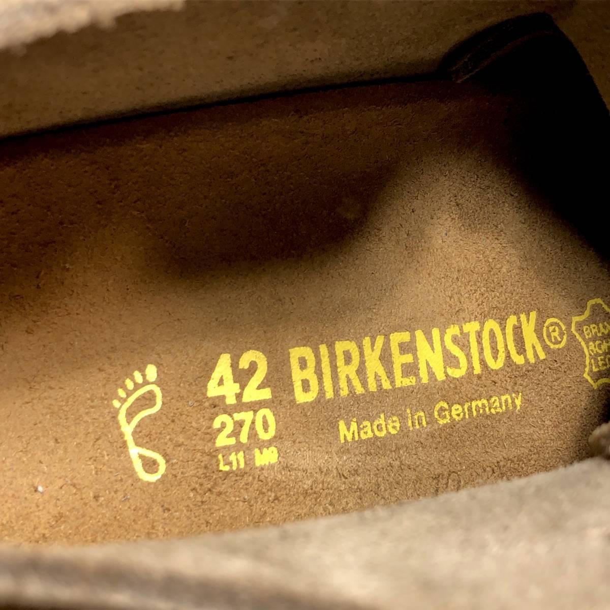 ■BIRKENSTOCK DUNDEE■ 未使用品 定価19,580円 27cm 42 ベージュ ビルケンシュトック ダンディー メンズ 靴 革靴 天然皮革 くつ 即決_画像8
