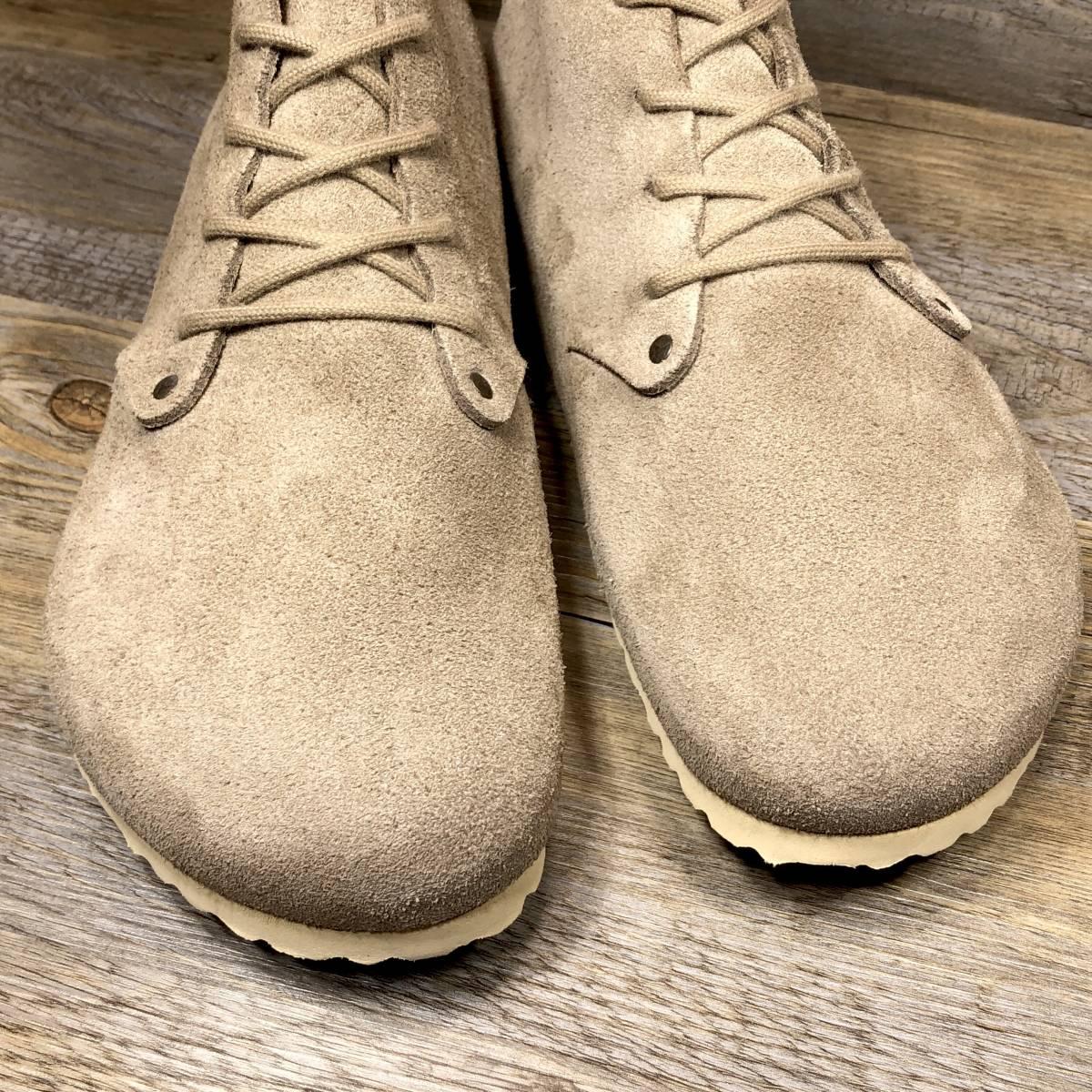 ■BIRKENSTOCK DUNDEE■ 未使用品 定価19,580円 27cm 42 ベージュ ビルケンシュトック ダンディー メンズ 靴 革靴 天然皮革 くつ 即決_画像4