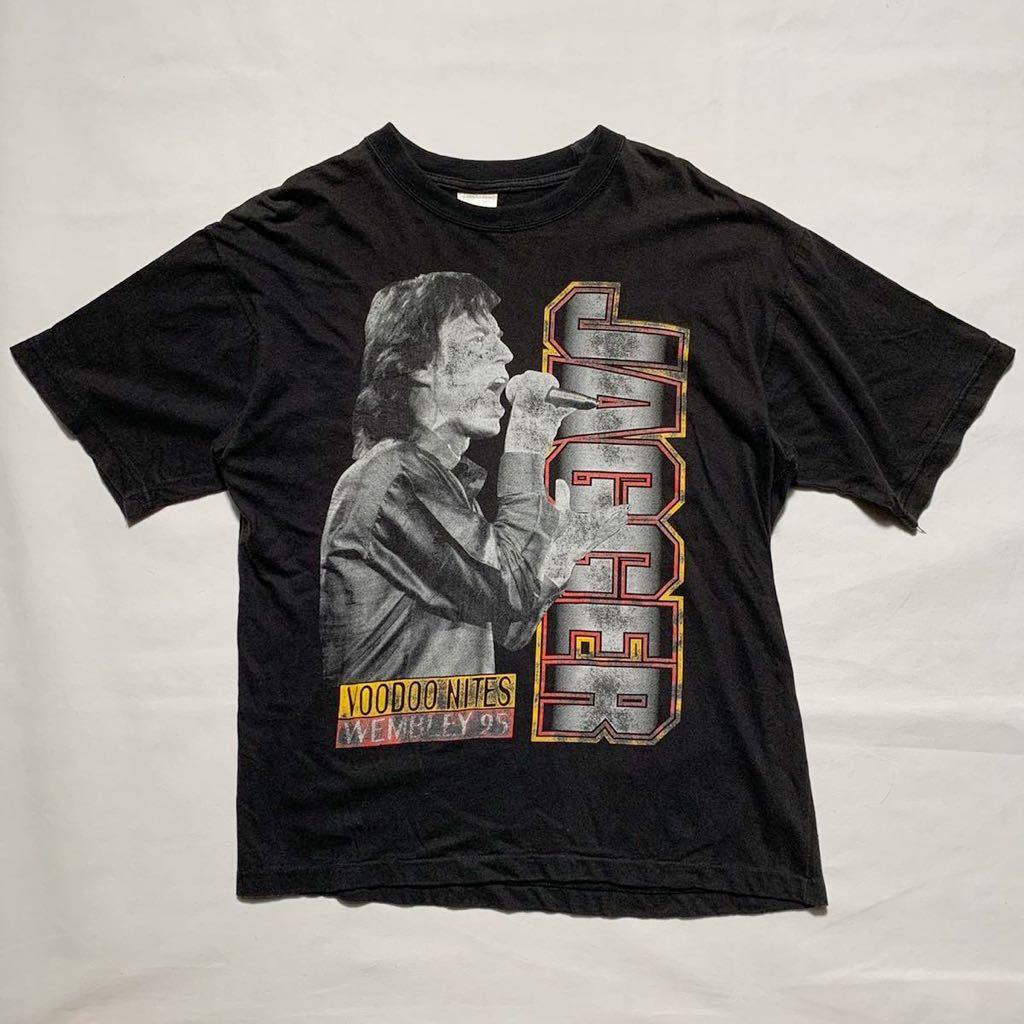 【希少】'95 MICK JAGGER ヴィンテージ Tシャツ Rolling Stones 90s バンド / 古着 バンT ac/dc Guns N' Roses Metallica nirvana 80s
