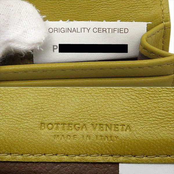 送料無料 ボッテガ・ヴェネタ カードケース イントレチャート イエロー ナッパレザー BOTTEGA VENETA 名刺入れ 逸品質屋_画像6