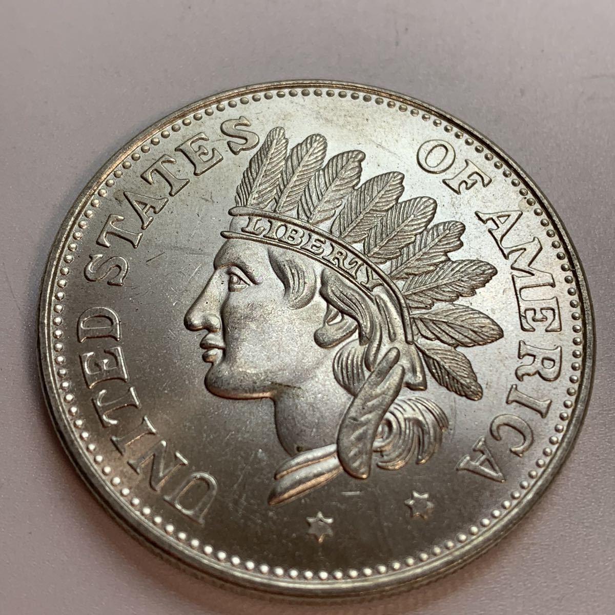 (22-433) 古銭 硬貨 銀貨 1851年 大型硬貨 アメリカ 一円 量目 約26.77グラム 貿易銀 未使用品