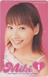 【テレカ】 藤本美貴 ファーストコンサートツアー2003春 MIKI1 テレホンカード ID-1M-O0032 未使用・Aランク_画像1