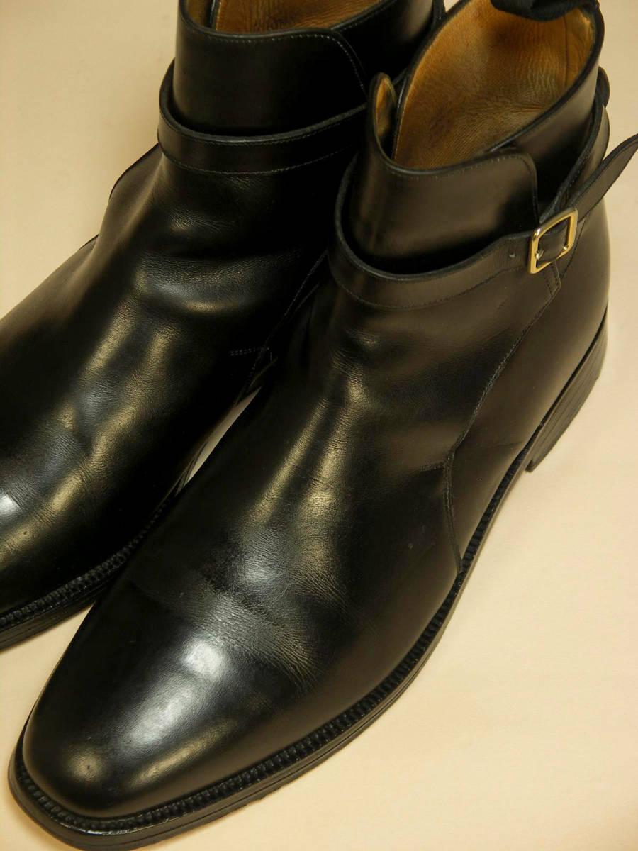 英)Tricker's / ジョッパーブーツ UK10(28cm) カーフ革 ストラップ&バックル ダブルソール~ヒドゥンチャネル 大切管理 ダメージなし 極美品