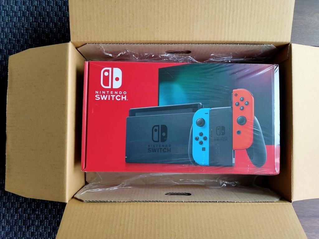 【新品未使用未開封送料込】任天堂 Nintendo Switch Joy-Con(L)ネオンブルー/(R)ネオンレッド バッテリー持続時間が長くなった新モデル_新品未使用未開封です