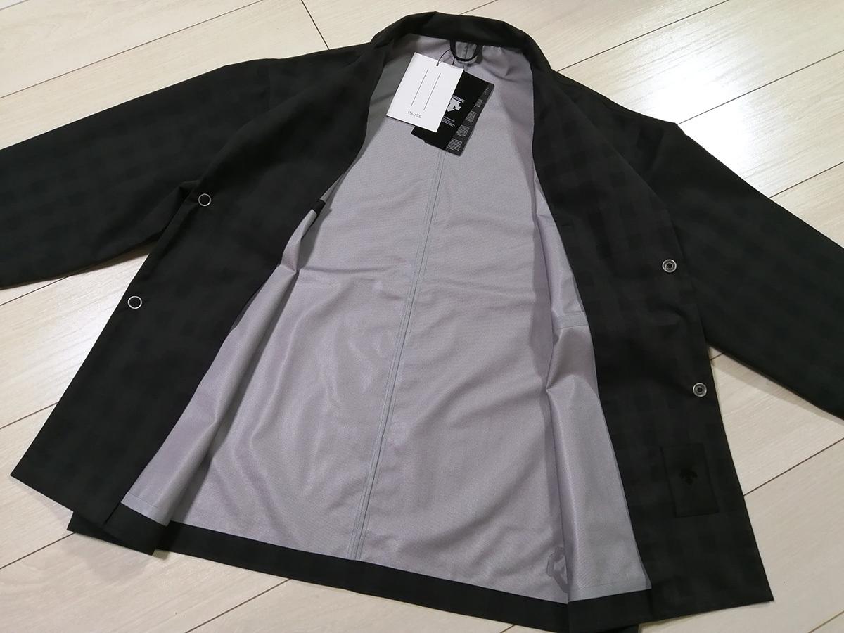 ◆新品 デサント ポーズ DESCENTE PAUSE グレンチェック ジャケット&パンツ 2B スーツ S 黒 定価62,700円 オーラリー AURALEE 送料無料