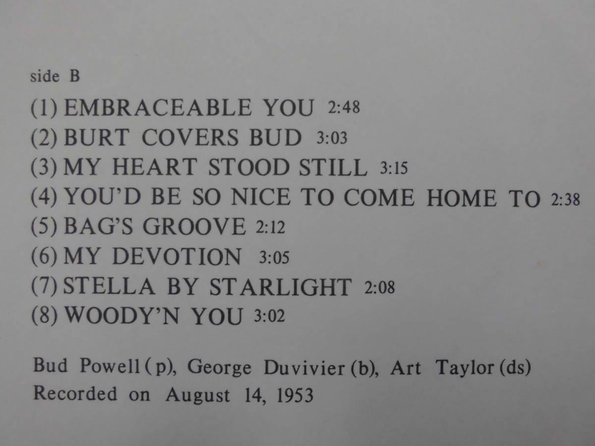 良盤屋 J-1684◆LP◆SL-5044-RO-Jazz  バッド・パウエル・トリオ The Bud Powell Trio The Bud Powell Trio  送料380_画像5