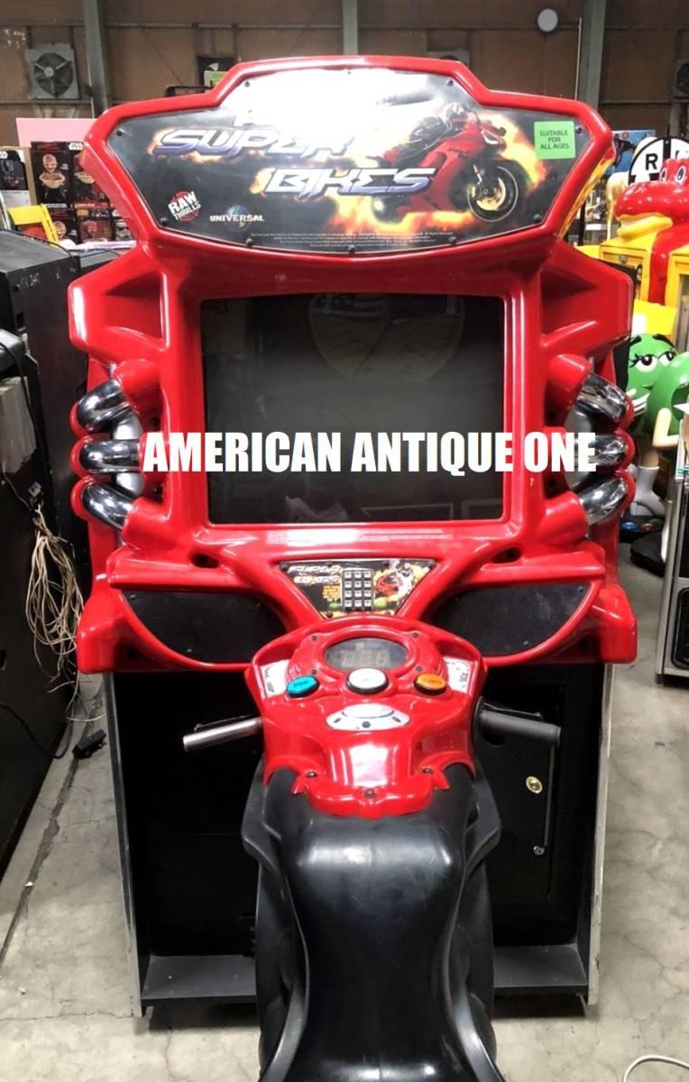 久しぶりの2日間限定価格★遊べます^^ロサンゼルス直輸入 ワイルド・スピードシリーズ / スーパーバイク レーシングアーケードゲーム_画像1