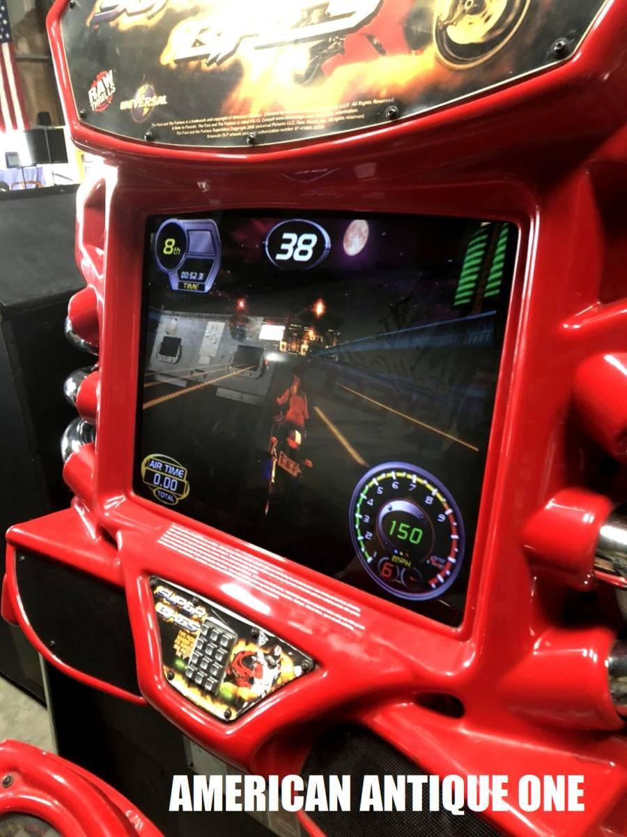 久しぶりの2日間限定価格★遊べます^^ロサンゼルス直輸入 ワイルド・スピードシリーズ / スーパーバイク レーシングアーケードゲーム_画像4