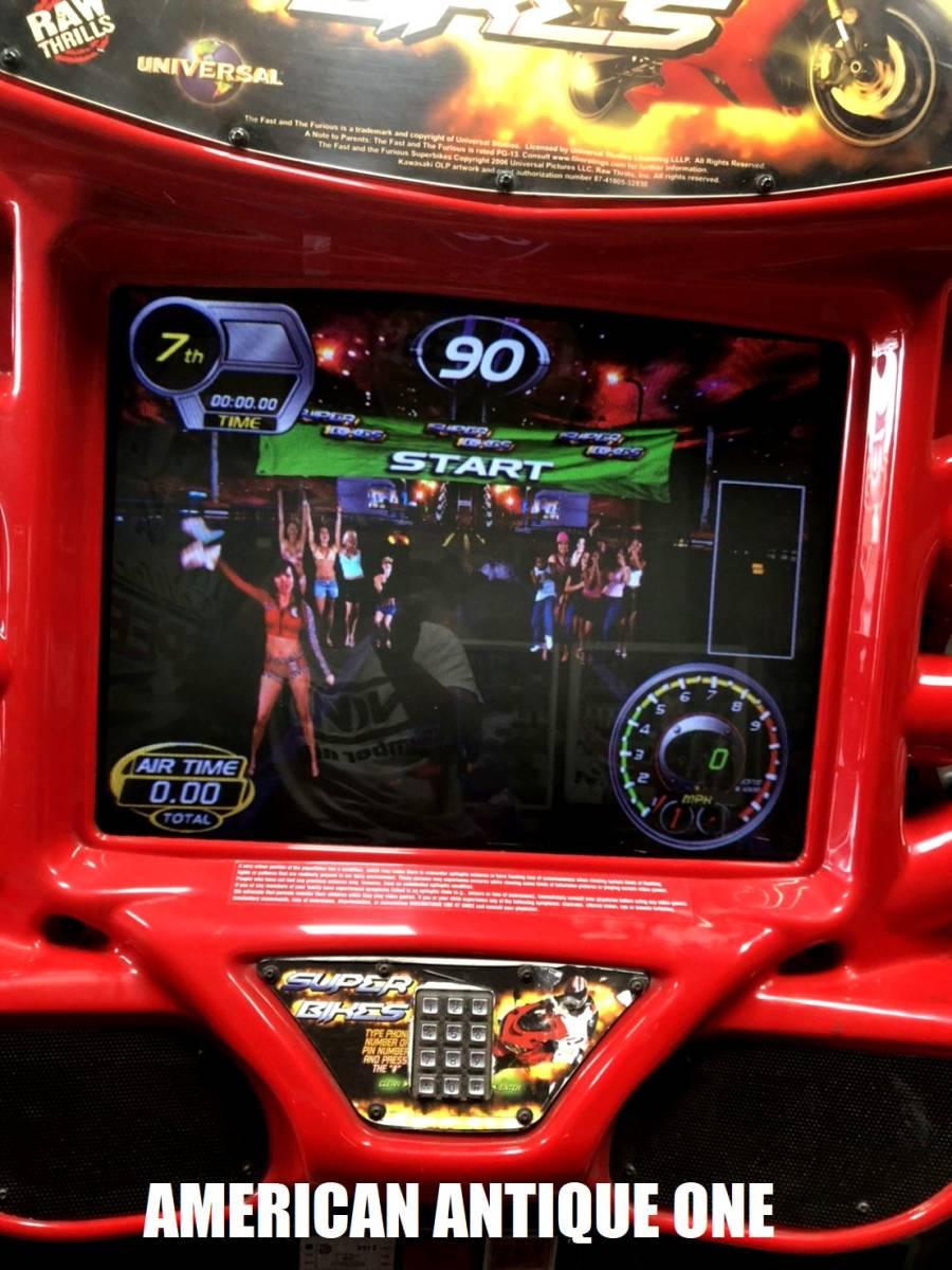 久しぶりの2日間限定価格★遊べます^^ロサンゼルス直輸入 ワイルド・スピードシリーズ / スーパーバイク レーシングアーケードゲーム_画像5