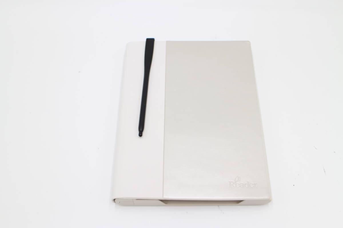 ソニー Reader用 ライト付ブックカバー ホワイト PRSA-CL20/W_画像1