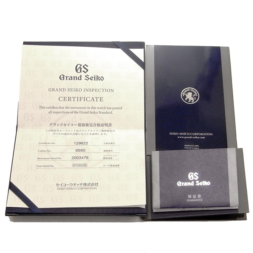 セイコー グランドセイコー メンズ 自動巻き オートマ デイト SBGR261 9S65-00D0 アイボリー文字盤 SEIKO GS_画像5