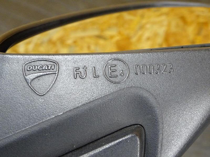 【200701】1199パニガーレS '12◇ ミラー 左右セット LEDウインカー内蔵型 【ドゥカティ スーパーバイク ABS付_画像8