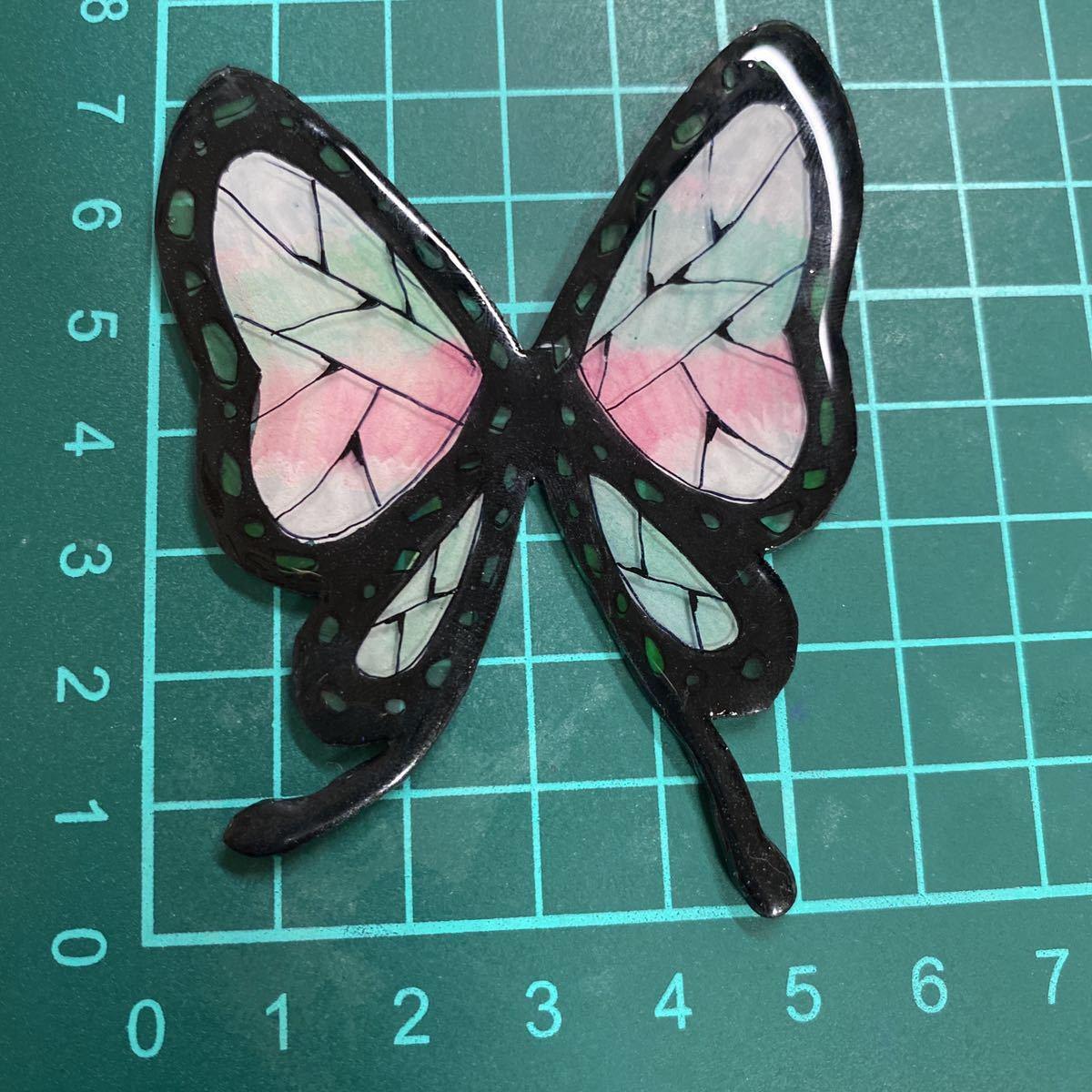 胡蝶しのぶ風 胡蝶カナヲ風 ヘアゴム 中 鬼滅の刃風 送料無料 3点セット 黒 ピンク 紫