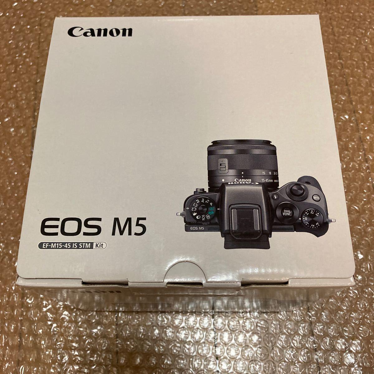 新品 未使用 Canon ミラーレス一眼カメラ EOS M5 EF-M15-45 IS STM レンズキット 保証あ