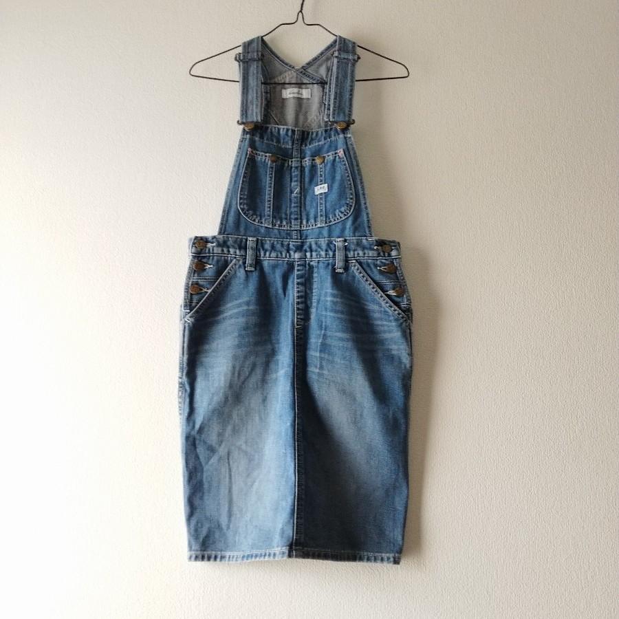 Lee×dazzlin デニムサロペットスカート