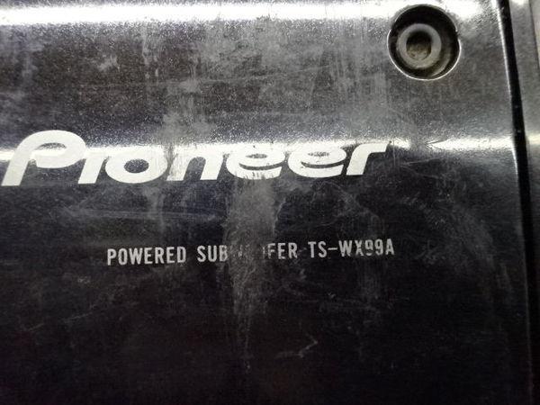 保証付! Carrozzeria カロッツェリア サブウーハー ウーファー TS-WX99A MAX 500W 音OK 即納 棚6-5_画像5