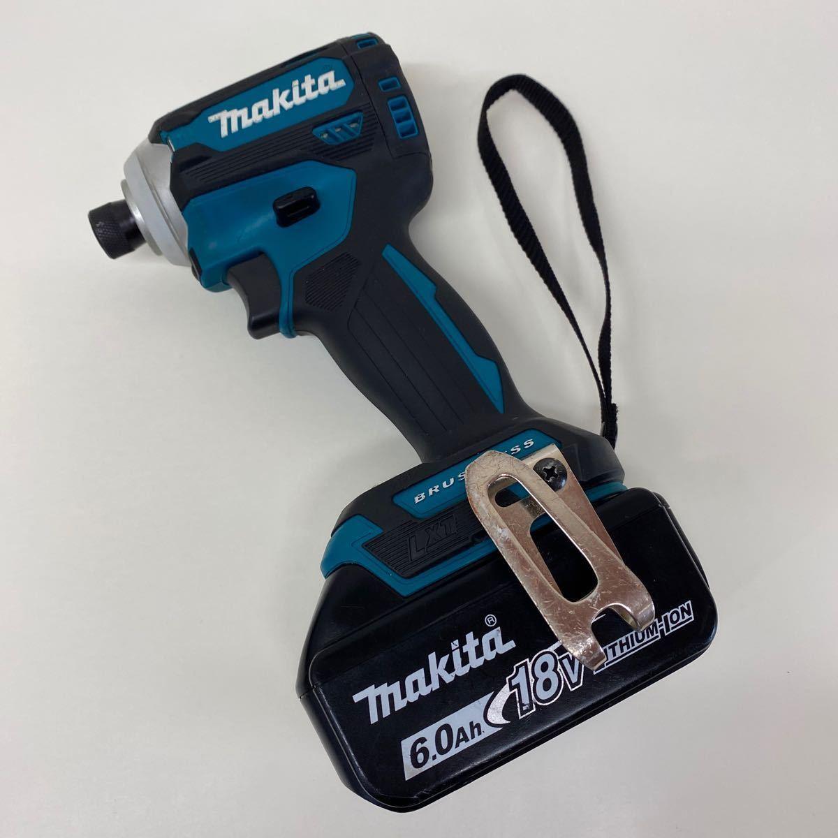 【中古・完動品】マキタ Makita TD171D 充電式インパクトドライバ 18v 『ブルー』BL1860B×2 DC18RF充電器 フルセット TD171DRGX 純正品_画像2