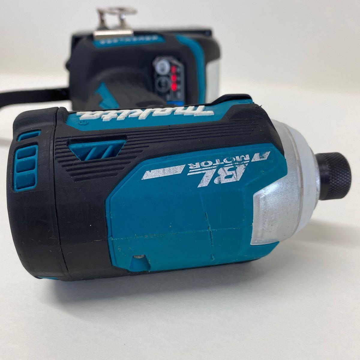 【中古・完動品】マキタ Makita TD171D 充電式インパクトドライバ 18v 『ブルー』BL1860B×2 DC18RF充電器 フルセット TD171DRGX 純正品_画像6