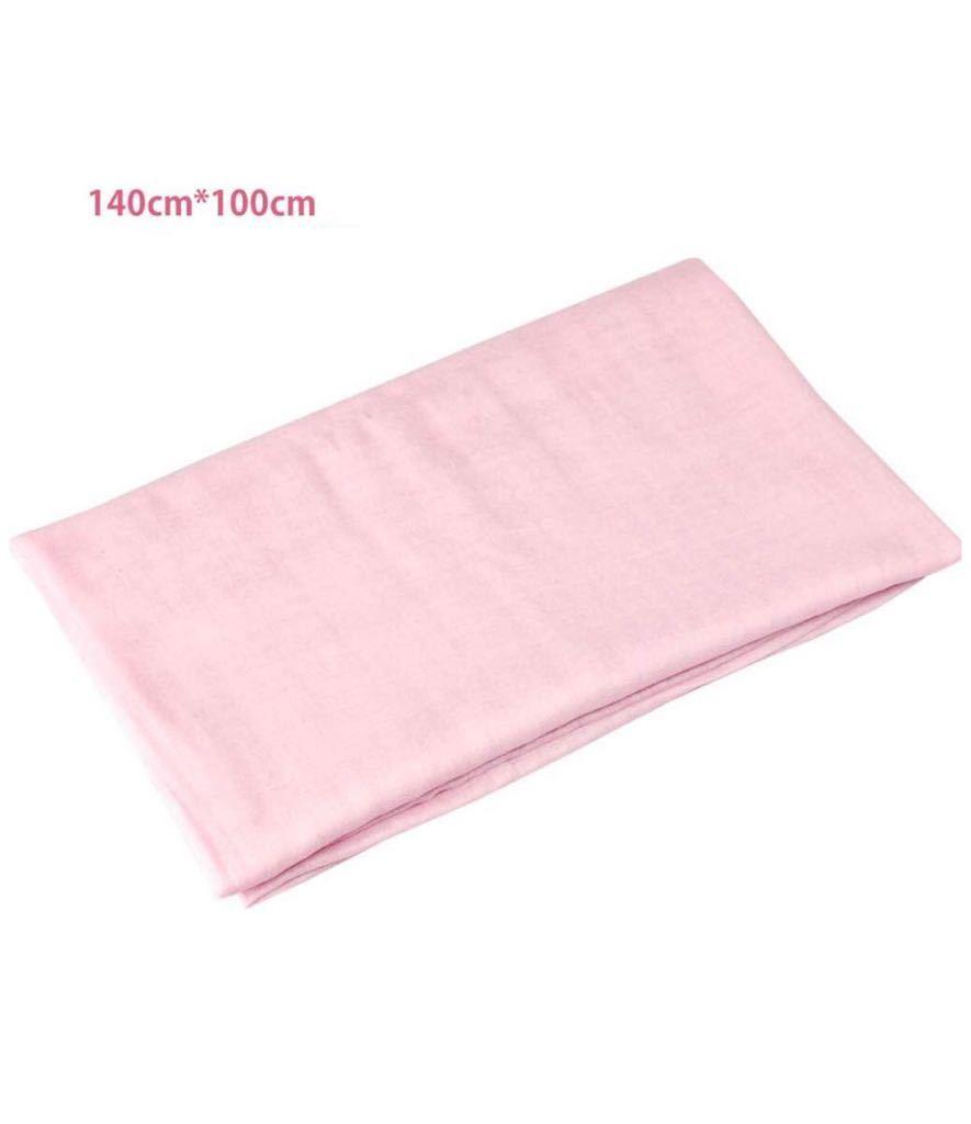 ダブルガーゼ 生地 無地 幅約140cm 長さ約100cm コットン 綿 柔らかい 手作り ハンドメイド 手芸 裁縫 DIY用品 手工制作 家庭用 ピンク