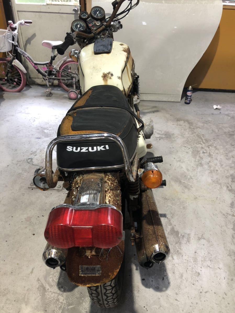 「スズキ GT750 部品取り車 2」の画像3