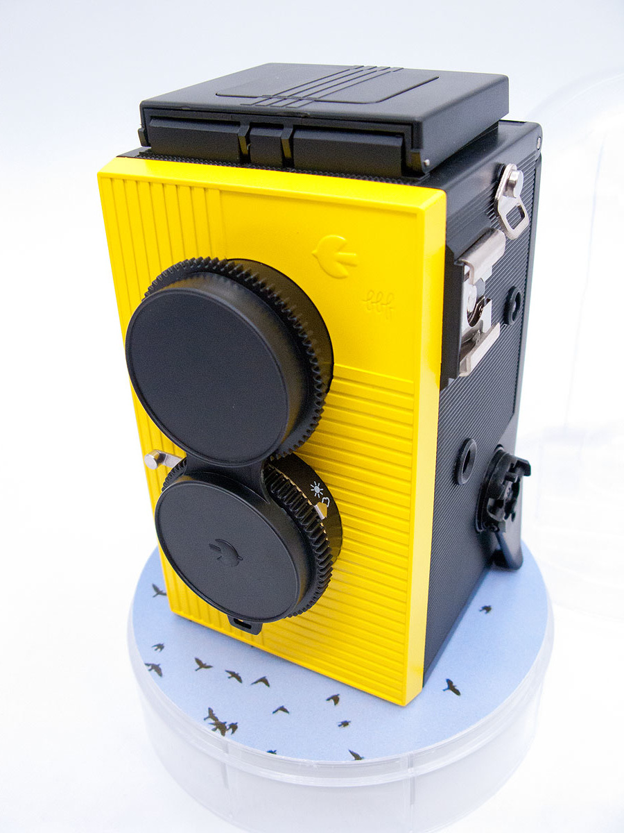 blackbird fly 35mmフィルム仕様 二眼レフカメラ ブラックバードフライ 未使用品 黄色 (検索: マミヤ ミノルタ ヤシカ ローライ )_画像2