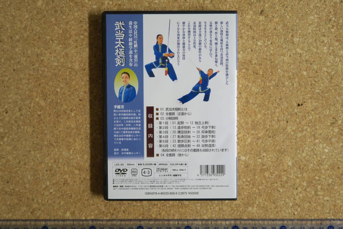 武当太極剣 李徳芳 武術 太極拳_画像2