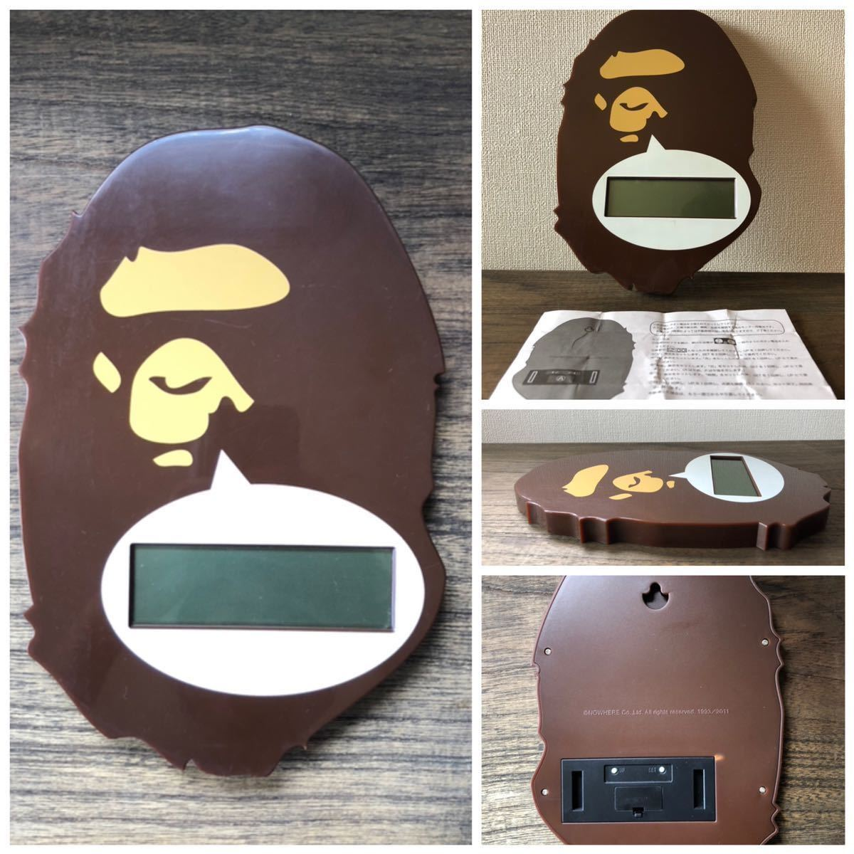 bape ウォールクロック 時計 掛け時計 bapex wall clockエイプ 非売品 nigo a bathing ap