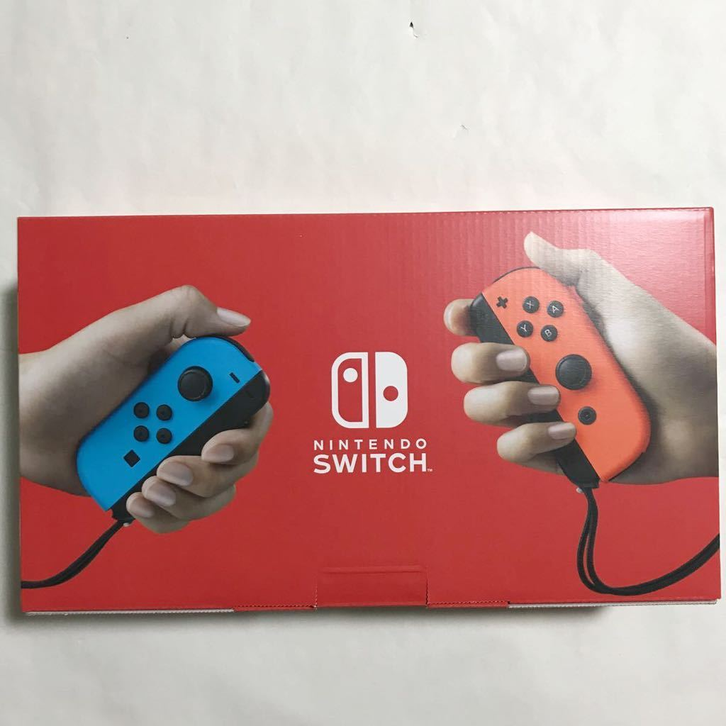 Nintendo Switch本体Joy-Con(L)ネオンブルー/(R)ネオンレッド新型 おまけ付 [新品未開封] 送料無料 ニンテンドースイッチ本体 任天堂 _画像2