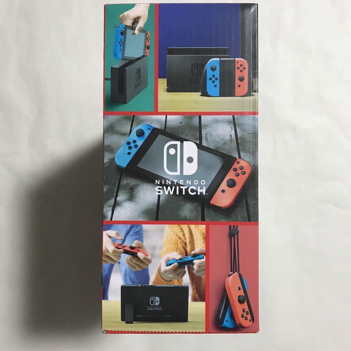 Nintendo Switch本体Joy-Con(L)ネオンブルー/(R)ネオンレッド新型 おまけ付 [新品未開封] 送料無料 ニンテンドースイッチ本体 任天堂 _画像6
