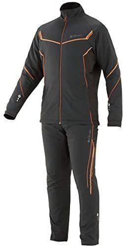 がまかつ GM-3613 3Lサイズ トレーニングウォームスーツ ブラック/オレンジ_画像1