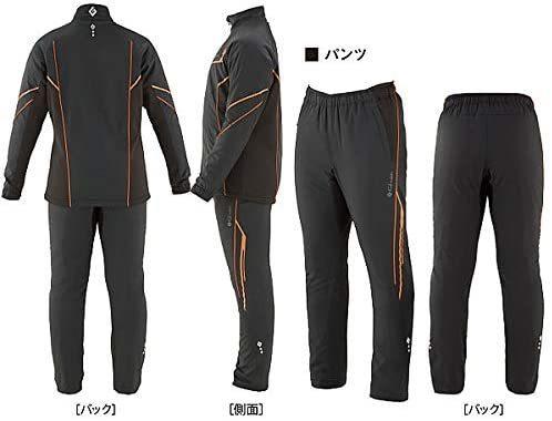 がまかつ GM-3613 3Lサイズ トレーニングウォームスーツ ブラック/オレンジ_画像2