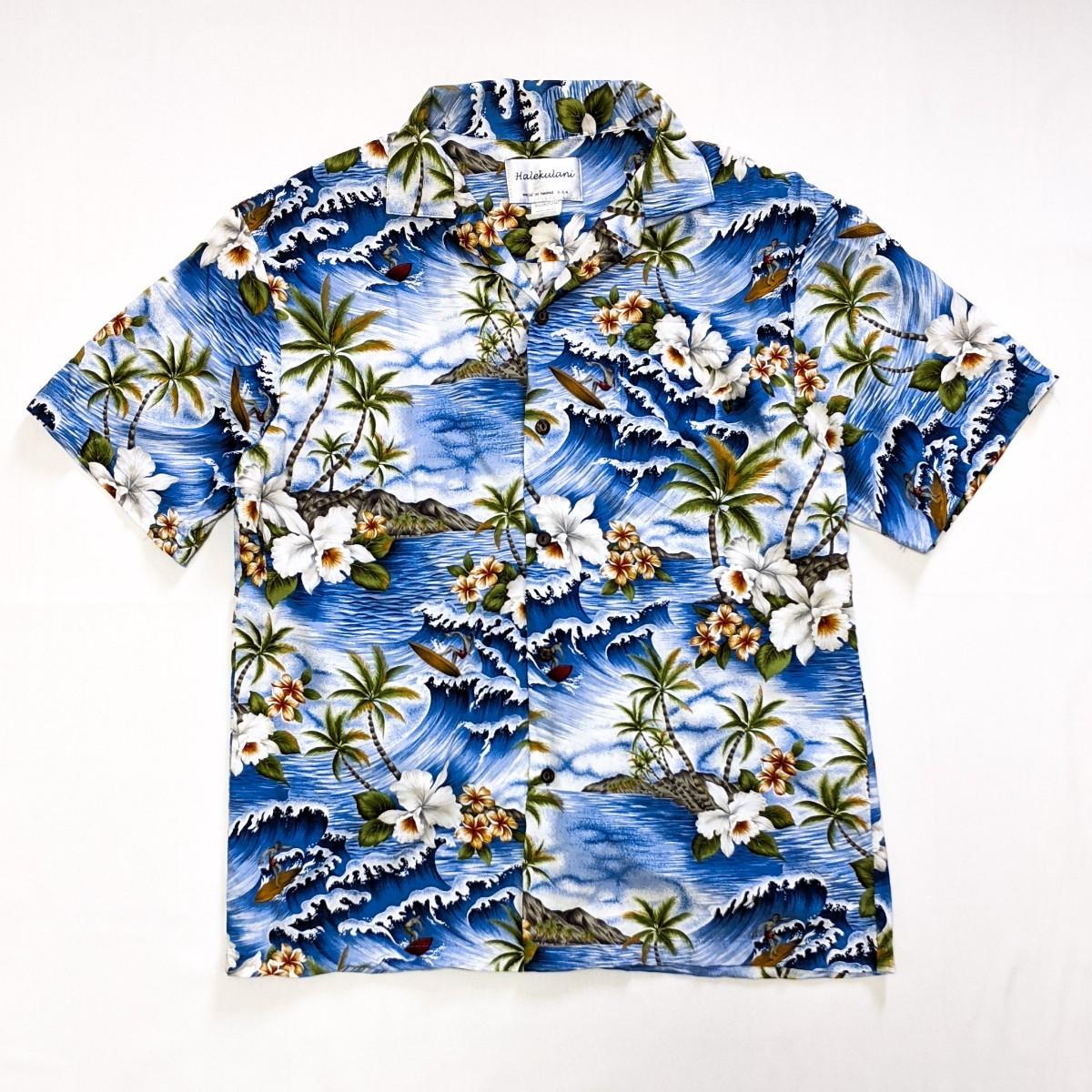 アロハシャツ ハワイ Hawaii アメリカ製 USA サーフィン 海
