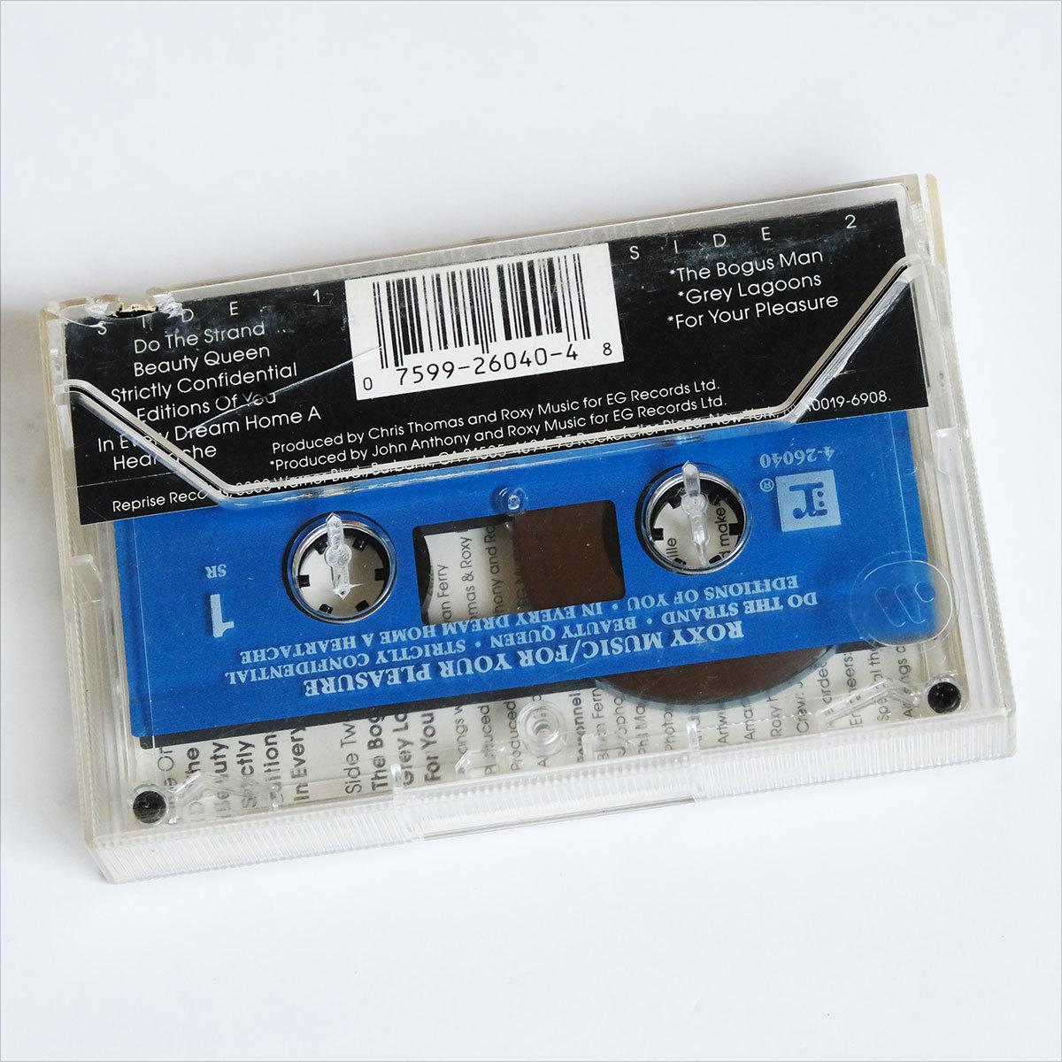 《US版カセットテープ》Roxy Music●For Your Pleasure●ロキシー ミュージック●フォー ユア プレジャー_画像2