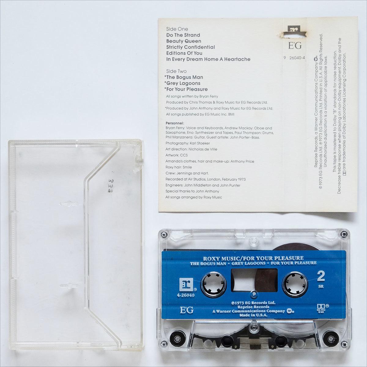 《US版カセットテープ》Roxy Music●For Your Pleasure●ロキシー ミュージック●フォー ユア プレジャー_画像4