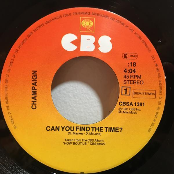 ☆Champaign/Can You Find The Time☆MELLOW SOUL!UK・蘭のみ!7inch 45_画像2
