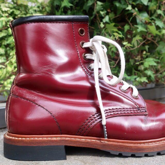 [ブヒシューズ] カスタム/Dr.martens/ドクターマーチン/UK6 (約24.5cm)/ボルドー/革靴/ワークブーツ/8ホール/カスタムブーツ_画像4