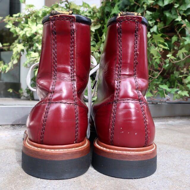 [ブヒシューズ] カスタム/Dr.martens/ドクターマーチン/UK6 (約24.5cm)/ボルドー/革靴/ワークブーツ/8ホール/カスタムブーツ_画像5
